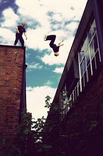 Breathtaking parkour shots