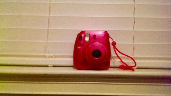Pink Polaroid camera from Michael
