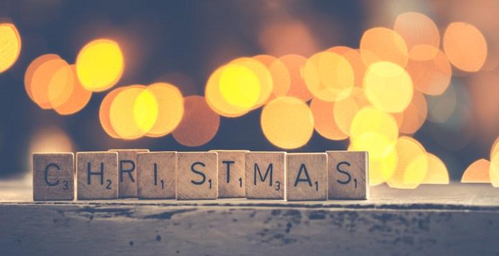 Scrabble Christmas letters