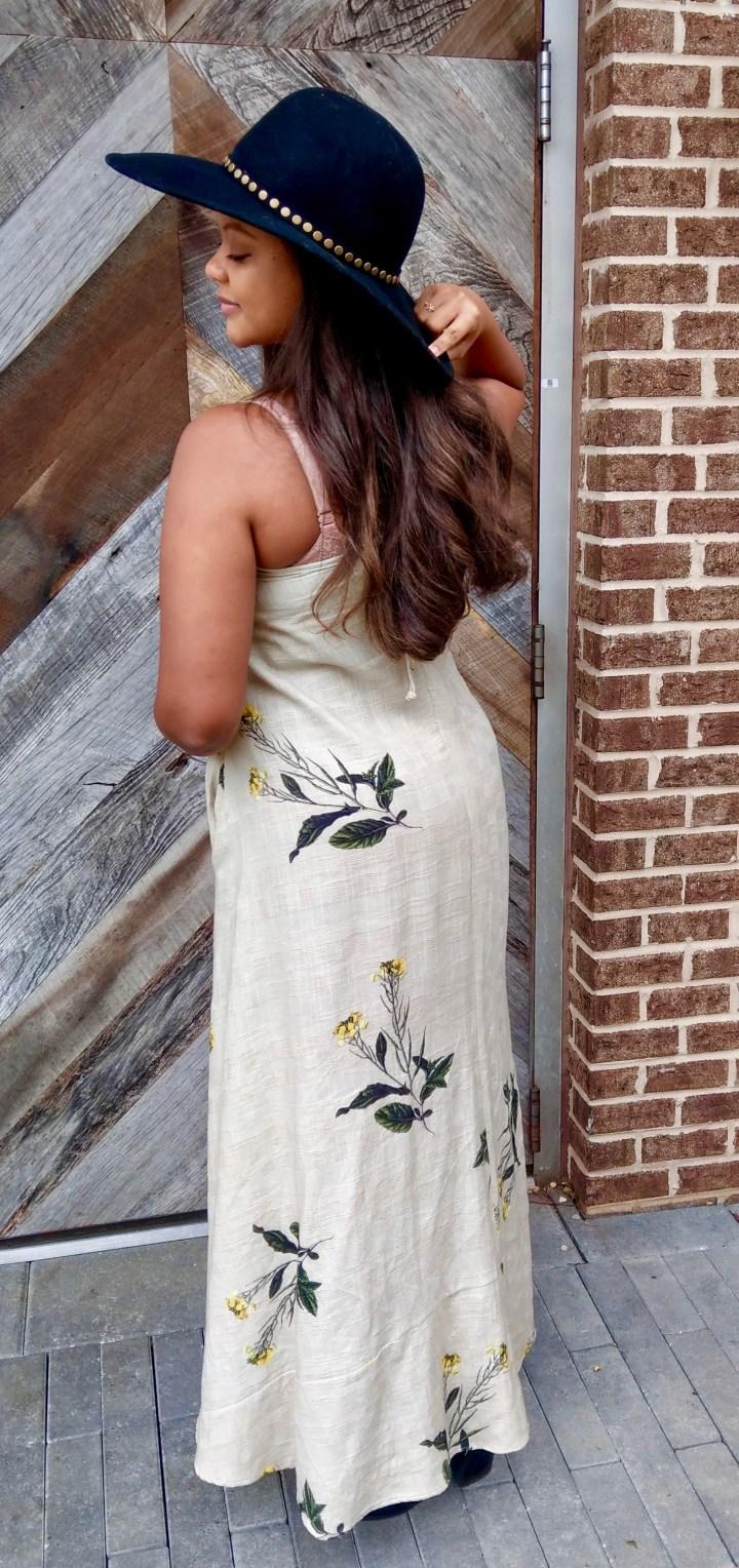 Natural Rough cotton dress Bohemian Keri Elaine