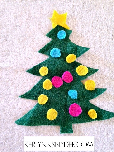 Easy Kids Christmas Crafts- Felt Christmas Tree