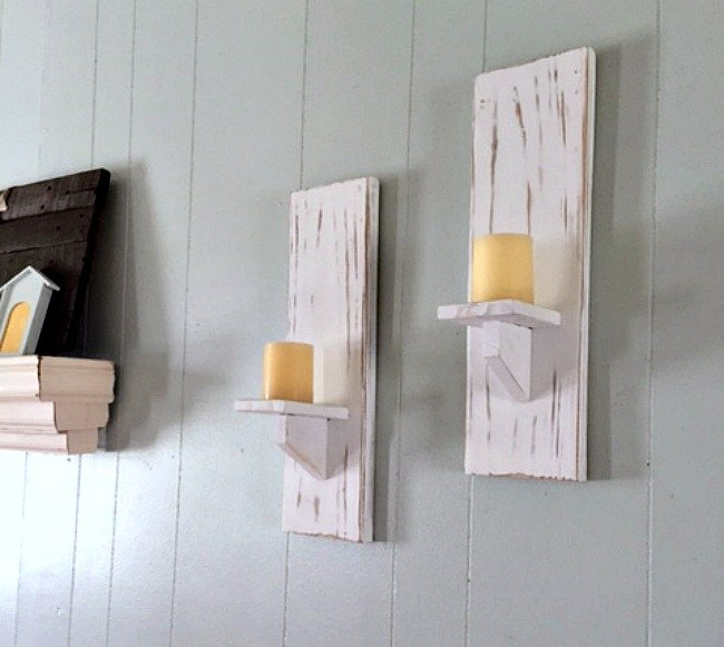 Chalk Paint DIY Candle Holders