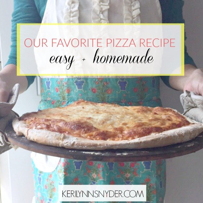 Try an easy homemade pizza that is perfect for cooking with kids