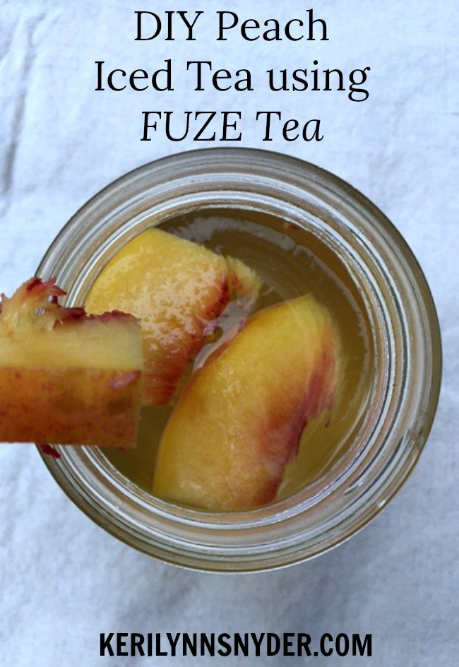 Easy Recipe with Just 2 Ingredients- DIY Peach Iced Tea