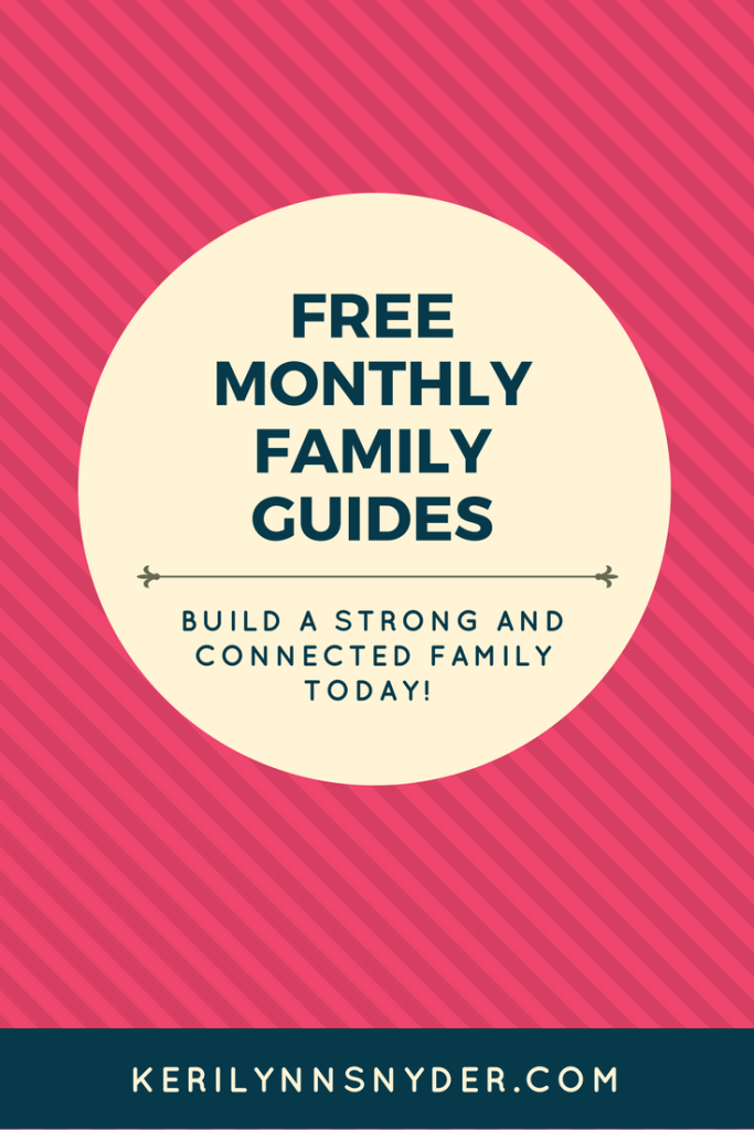 Build a strong family. Have family nights. Learn how to have regular family time with this monthly family guide.