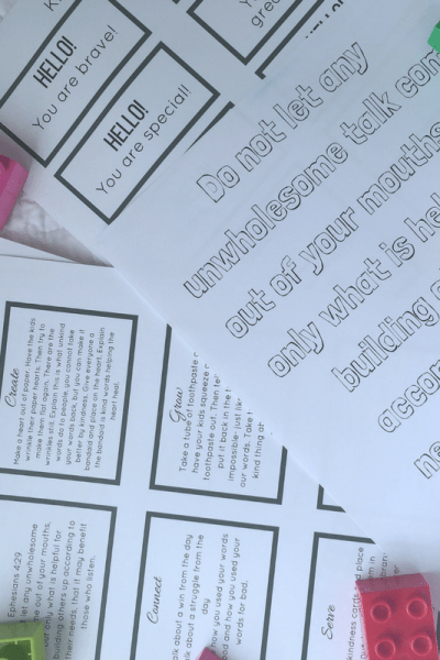 Teaching Our Kids the Power of Words (Free Printable)