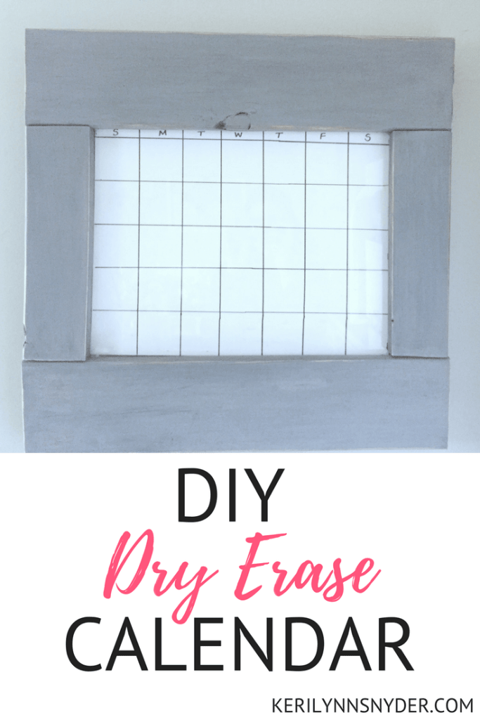 Create your own dry erase calendar with these tips