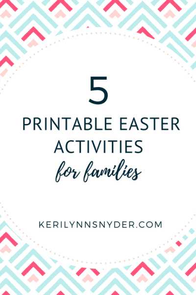 5 Free Easter Printables