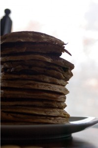 100% Whole Wheat Buttermilk Pancakes with Wheat Germ