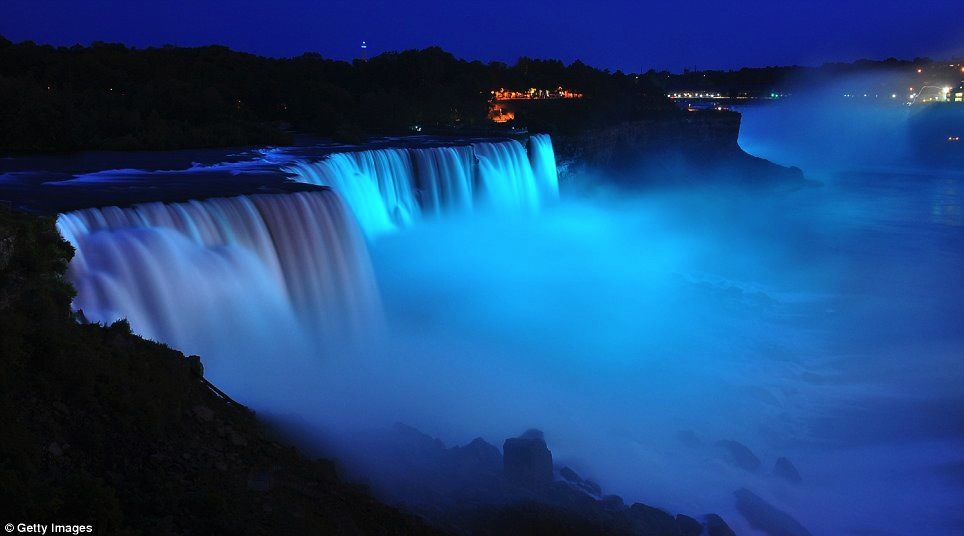 Niagara Falls blue