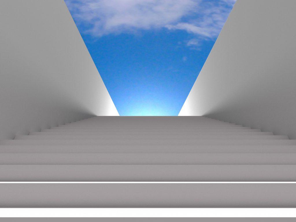 stairway clouds