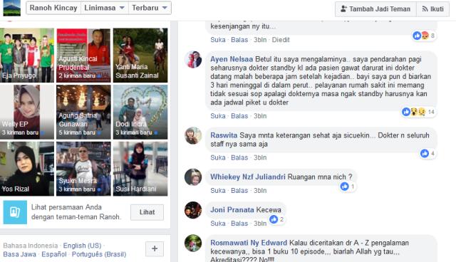ungkapan Akun Facebook Ayen Nelsaa mengomentari postingan Ranoh Kincay