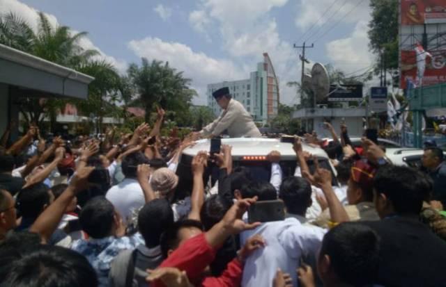 Prabowo Calon Presiden RI Saat Kunjungi Jambi