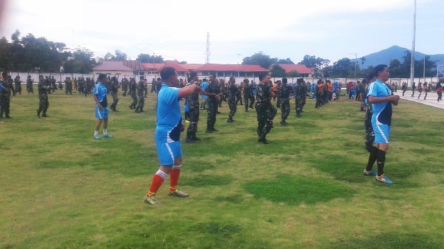 Bersinergi, TNI-Polri Olahraga Bersama Jelang Pengamanan Pemilu 2019