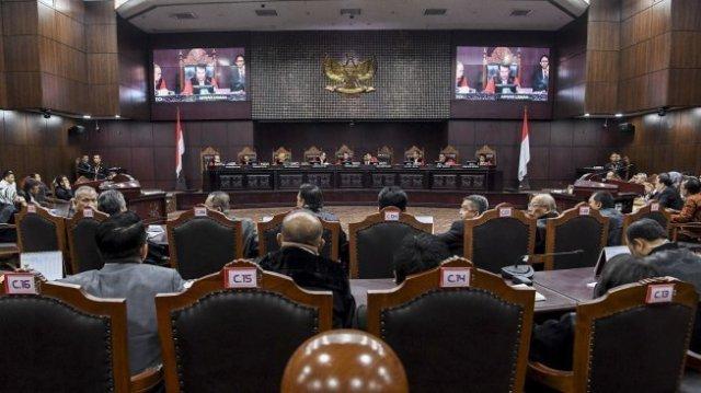 Ilustrasi suasana sidang sengketa Pilpres 2019 di Gedung Mahkamah Konstitusi. (Ist)