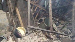 Rumah rusak akibat gempa Banten. (Suara.com/Yandhi Deslatama)