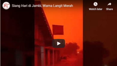 Photo of Video, Siang Hari Langit Jambi Memerah