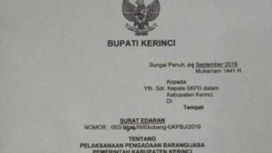 """Photo of Intervensi Proses Lelang, Nama """"W"""" Mencuat, Adirozal Keluarkan Surat Edaran"""