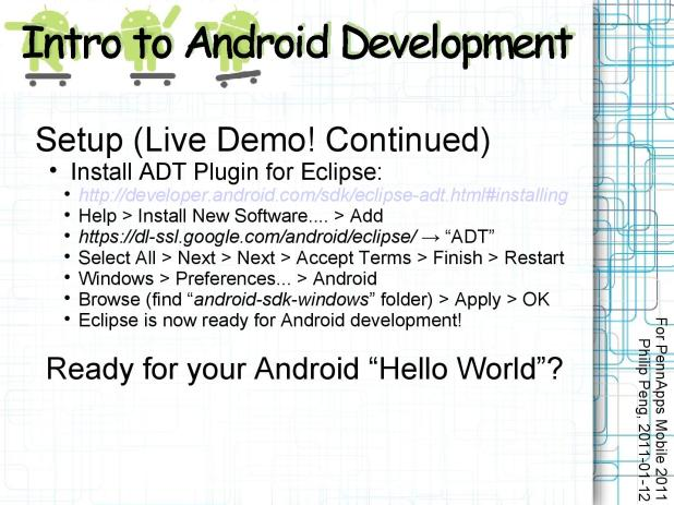 2011-01-12 Intro to Android Development 010