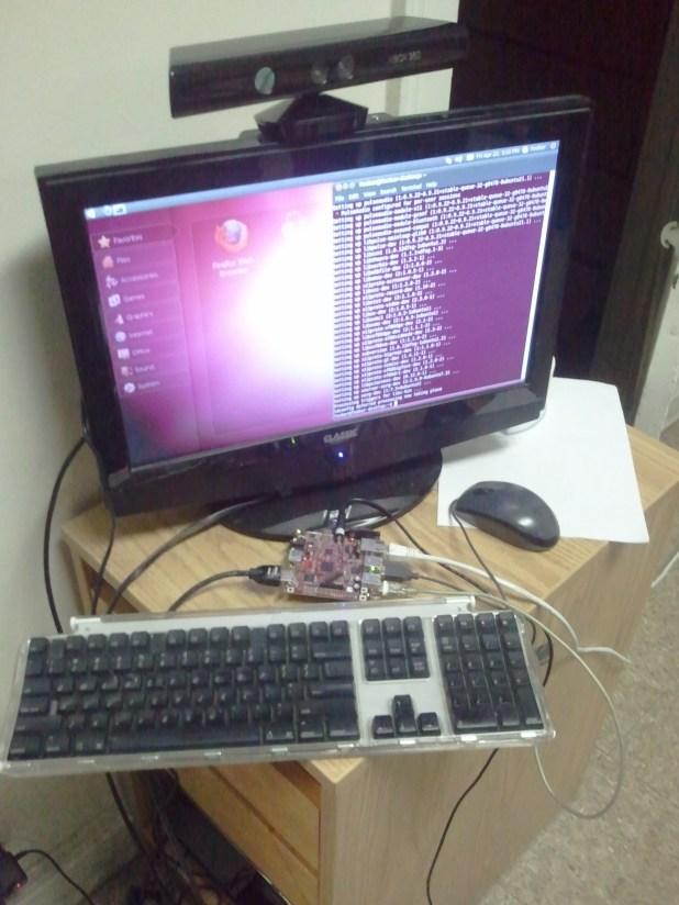 Beagleboard-xM running Ubuntu with Kinect