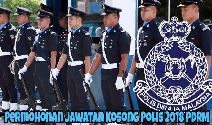 Permohonan Jawatan Kosong Polis 2018 PDRM