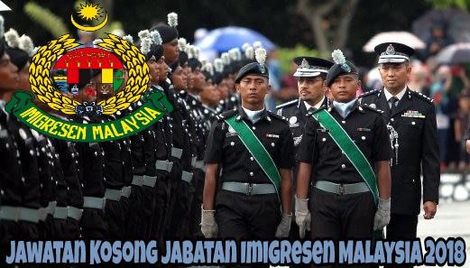 Jawatan Kosong Jabatan Imigresen Malaysia 2018 SPA