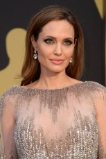 Angelina Jolie arrives at the Oscars on Sunday, March 2, 2014, at the Dolby Theatre in Los Angeles. (Photo by Jordan Strauss/Invision/AP)