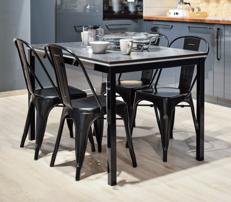 black metal chairs tolix French