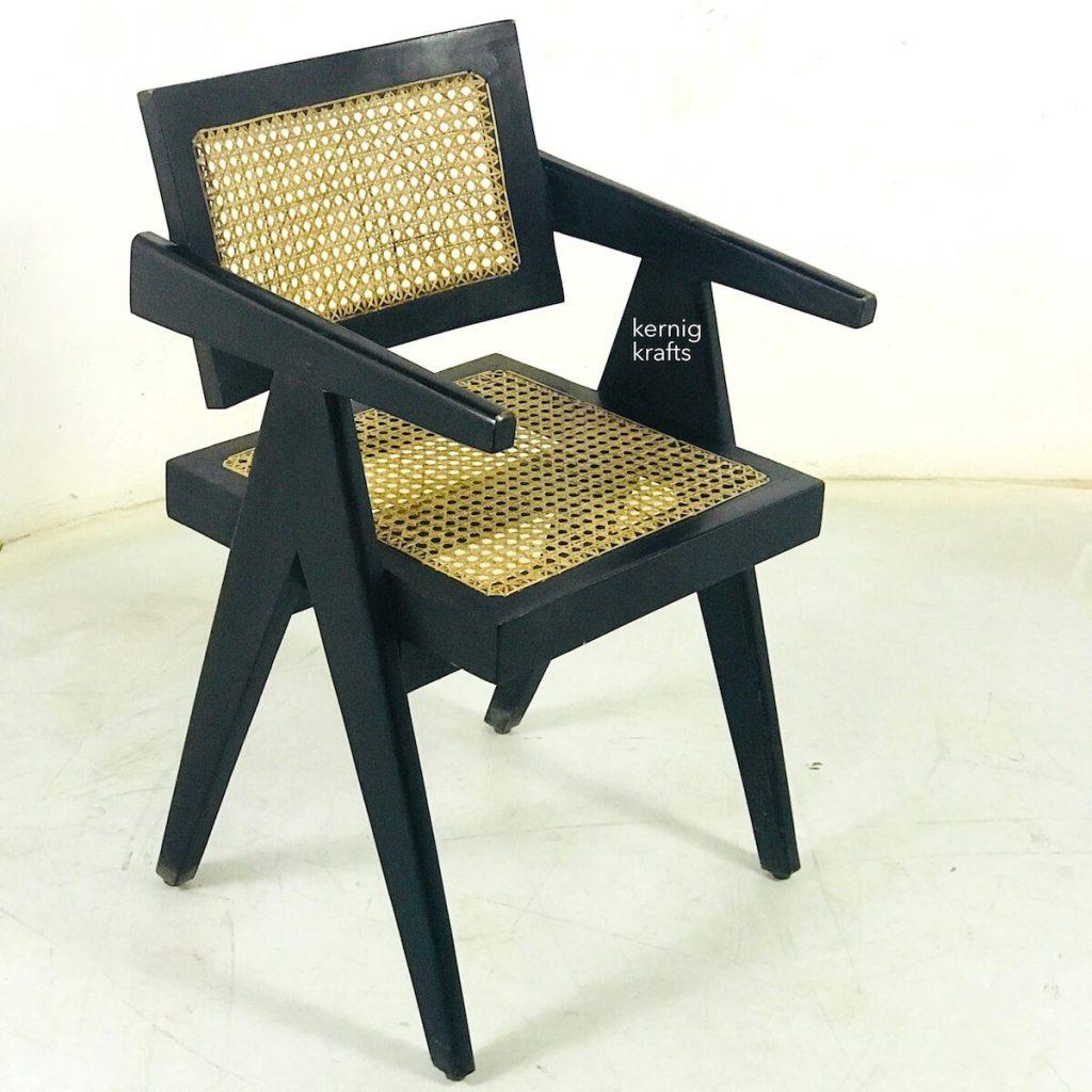 solid wood rattan wicker chair kernig krafts