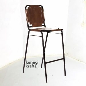 BCHM37647 Riveted Upholestry Metal Bar Chair