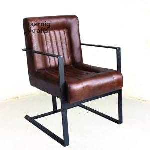CHAM00411 Premium Goat Leather Relax Easy Office Chair