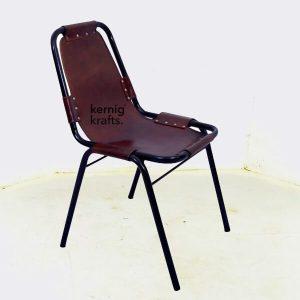 CHAM27217 Leather Levitation Iron Frame Chair