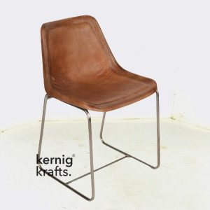 CHAM48786 Metal Frame With Leather Cladding Supreme Chair