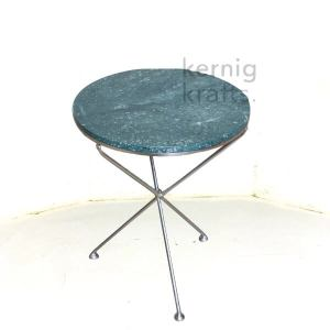 ENDT84026 Electroplated Metal with Marble Top End Table