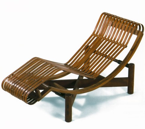 Charlotte Perriand modern furniture contemporary interior design  bamboo chaise lounge