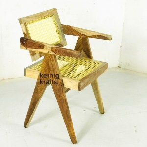 CHAM32750 Canning Seat Comfy Wooden Chandigarh Chair