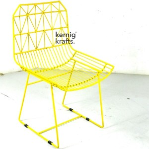 CHAM38025 Aztec Wireframe Metal Chair