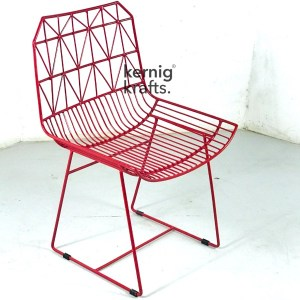 CHAM64536 Aztec Wireframe Metal Chair