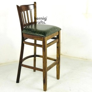 BCHM58631 Classic Wooden Bar Chair in Upholestry Seat Rosewood