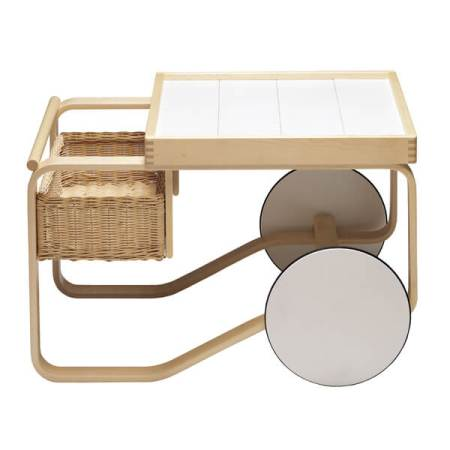 rattan tea trolley alvar aalto  scandinavian furniture kernig krafts