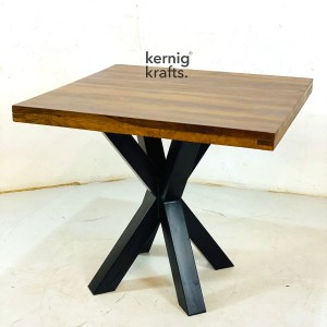 DINT81071 Cafe Dining Table With Single X Base