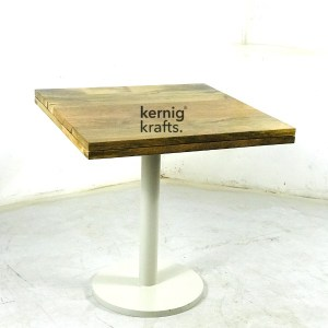 DINT91998 Cafe Two Seater Square Table With Mango Wood Top