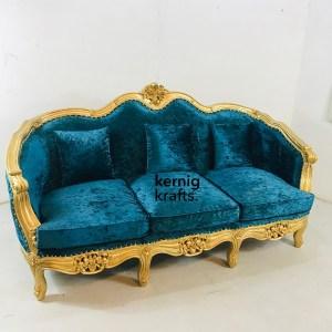 SOFA65959 Hand Carved Three Seater Royal Sofa