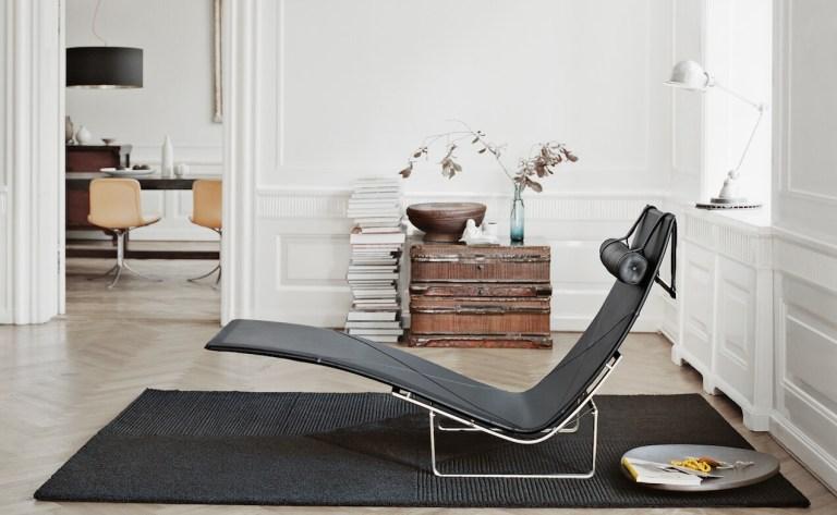 Chaise Lounge Kjærholm kernig krafts Fritz Hansen