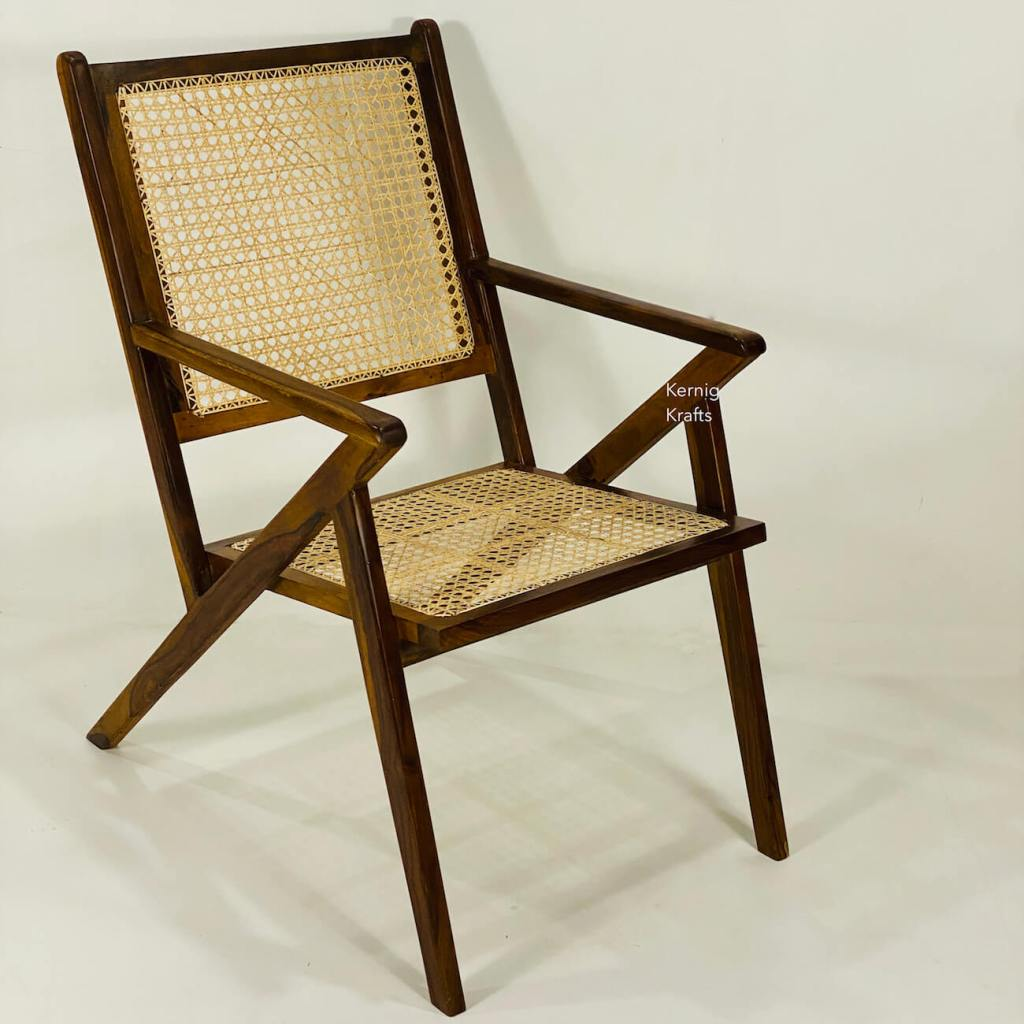 sheesham wood rosewood handcrafted chair classic design wicker rattan furniture