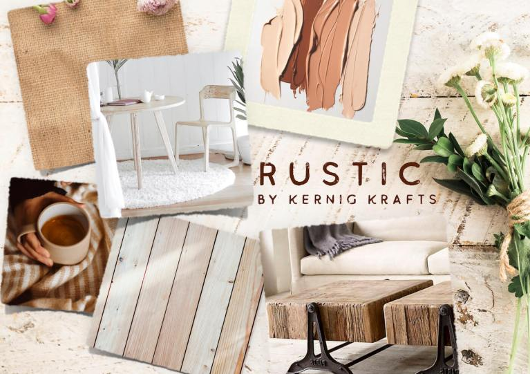rustic mood board