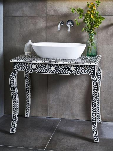 bone inlay vanity bathroom kernig krafts furniture
