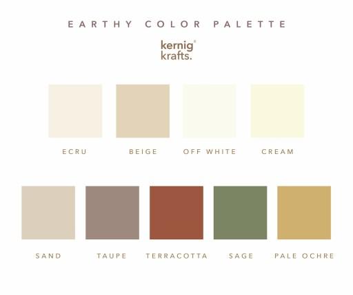 earthy color palette kernig krafts taupe cream trends 2021