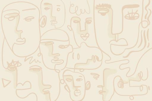 wallpaper interiors kernig krafts abstract faces contemporary design 2021