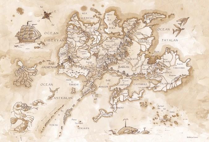 carte du monde des Kerns de l'Oubli